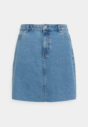 VMMIKKY RAW SKIRT MIX - Mini skirt - light blue denim