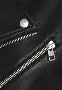 Calvin Klein Jeans - JACKET - Faux leather jacket - black - 3
