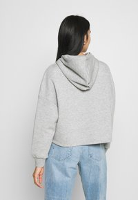 Even&Odd - OVERSIZED CROPPED PRINTED HOODIE - Jersey con capucha - mottled light grey - 2