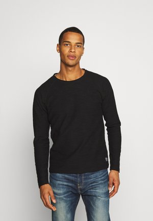 JJETERRY CREW NECK - Strickpullover - black