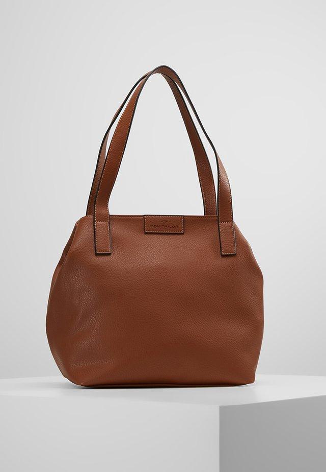 MIRI ZIP  - Shopping bag - cognac