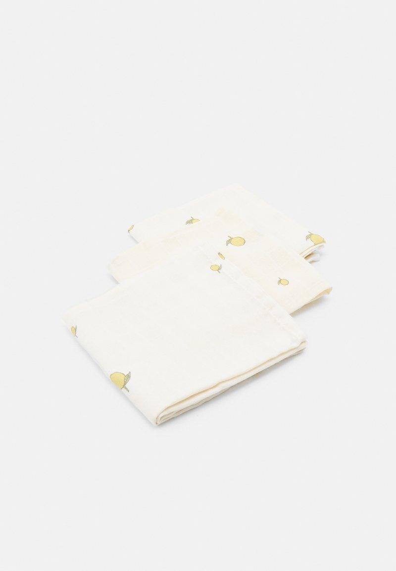 Konges Sløjd - CLOTH 3 PACK UNISEX - Muslin blanket - off-white/yellow