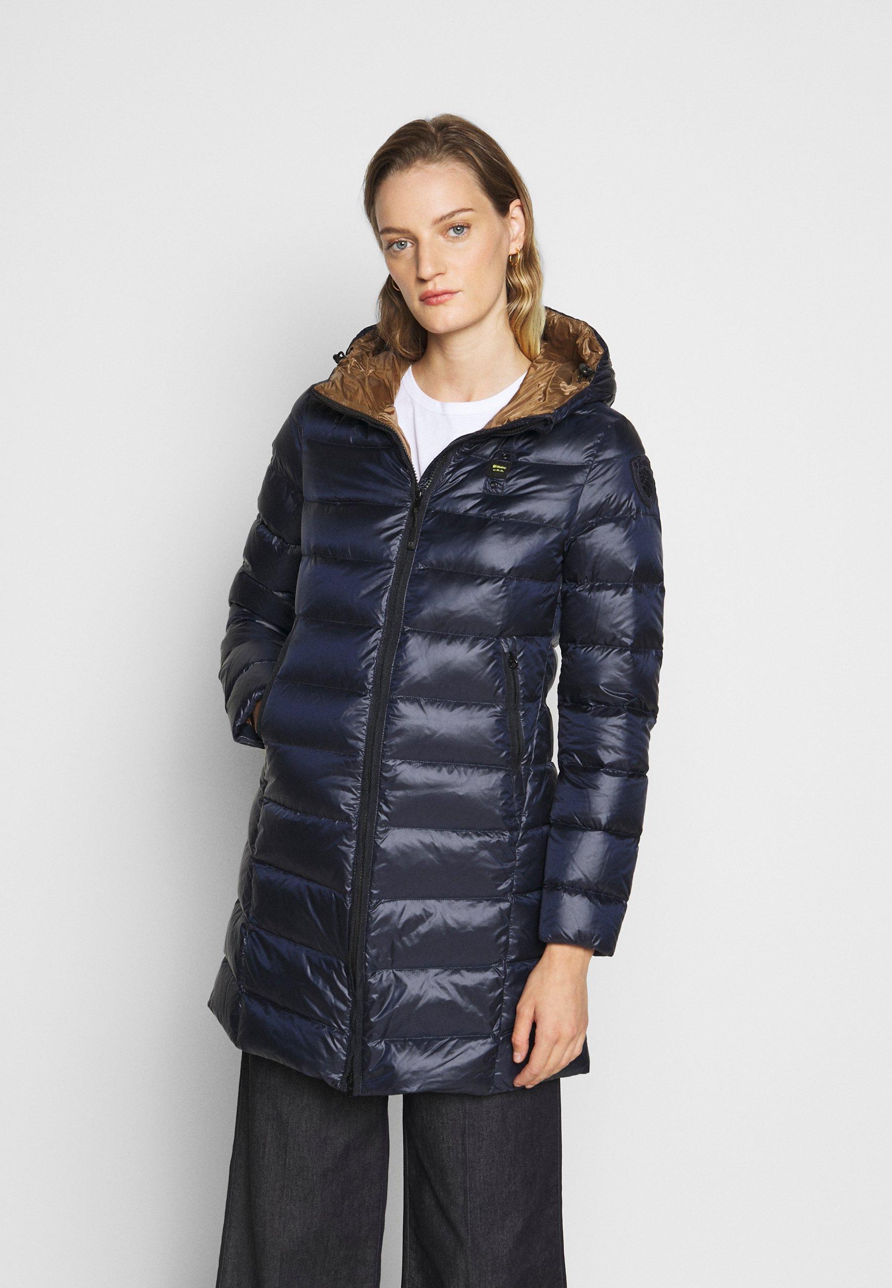 Blauer IMPERMEABILE LUNGHI IMBOTTITO - Doudoune - dark blue - Manteaux Femme 0exlF