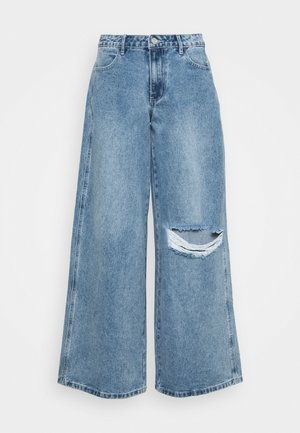 LOW RISE BOYFRIEND - Relaxed fit jeans - light blue