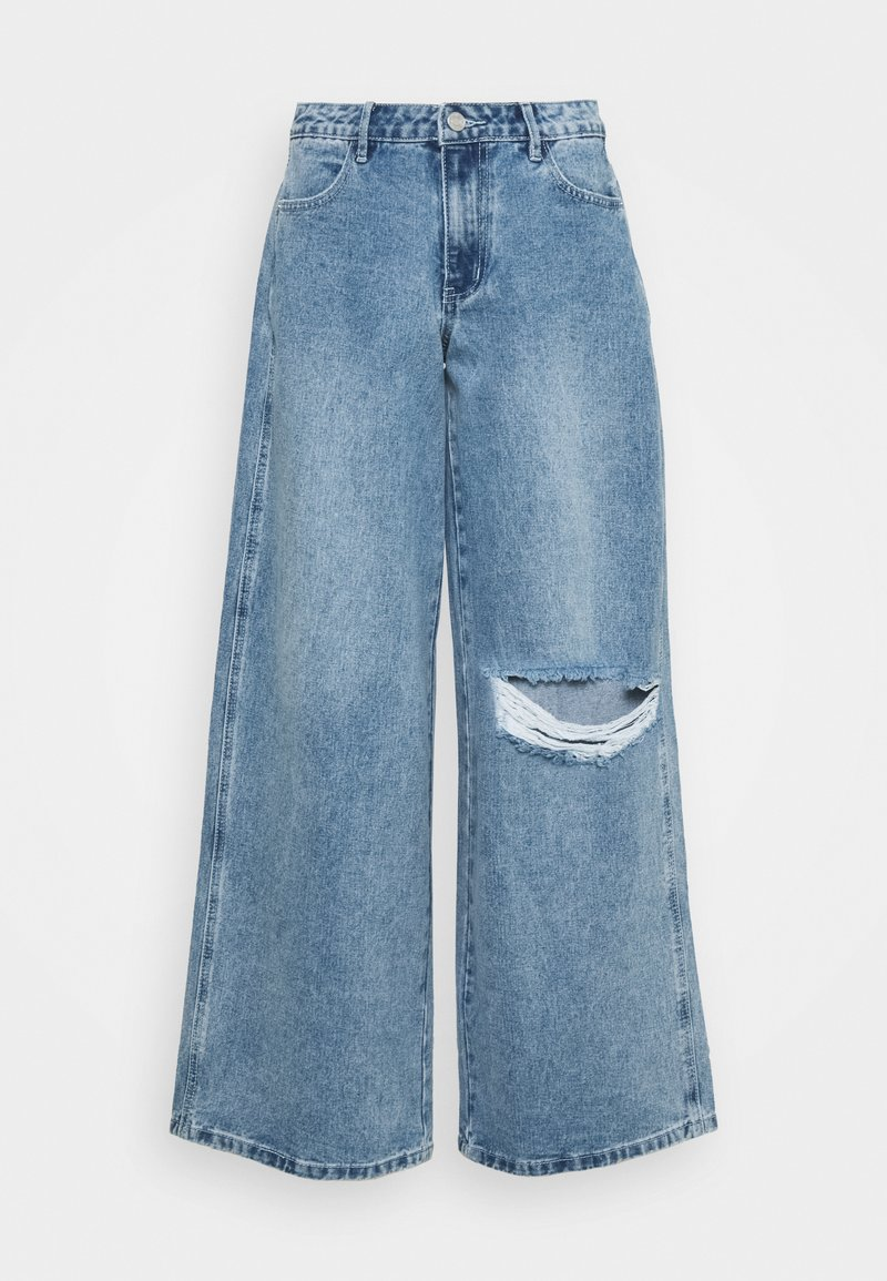 Missguided - LOW RISE BOYFRIEND - Relaxed fit jeans - light blue