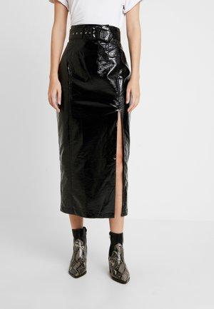 FINN MIDI SKIRT - Pencil skirt - black
