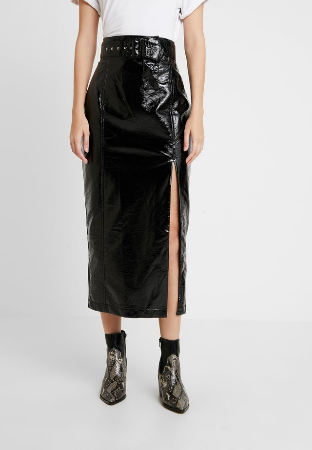 FINN MIDI SKIRT - Pencil skirt - black