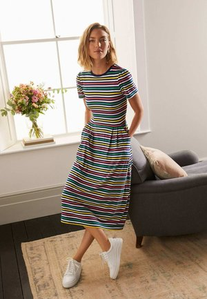 LUCINDA - Jersey dress - bunt, gestreift