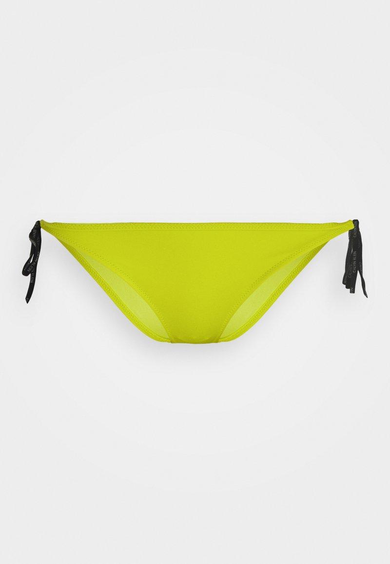 Calvin Klein Swimwear - CORE LOGO TIES CHEEKY STRING SIDE TIE - Spodní díl bikin - acid lime