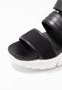 Shoe The Bear - MALA SPORT  - Platform sandals - black - 2
