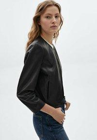 Massimo Dutti - Leather jacket - black - 2