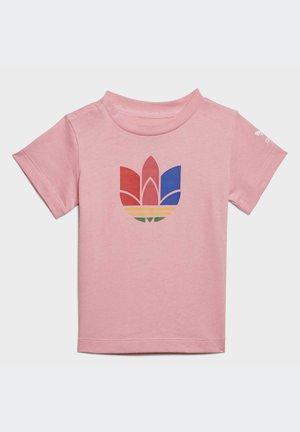 ADICOLOR 3D TREFOIL - T-shirt print - pink