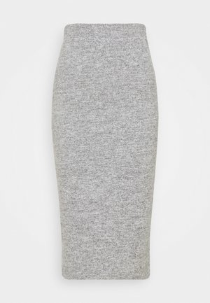 PCPAM PENCIL SKIRT - Jupe crayon - light grey melange