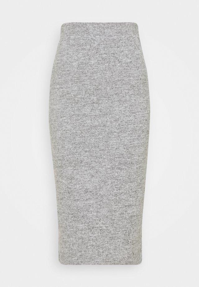 PCPAM PENCIL SKIRT - Falda de tubo - light grey melange