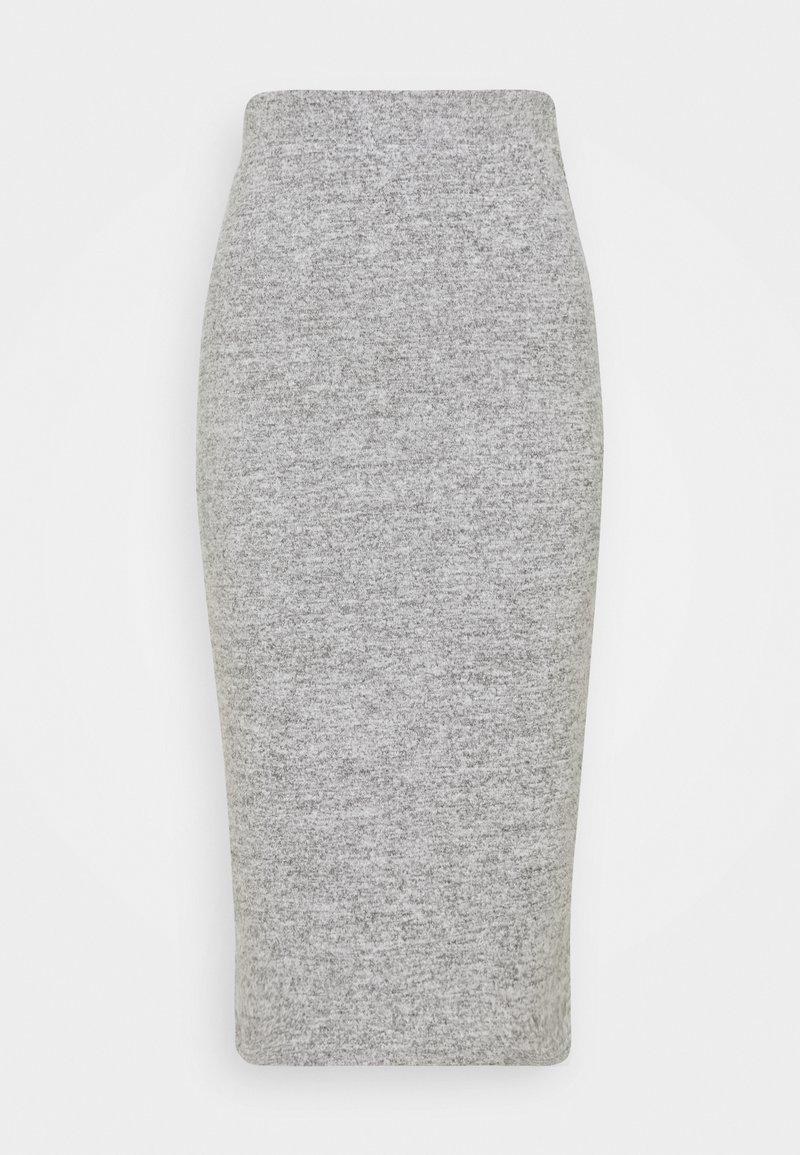 Pieces - PCPAM PENCIL SKIRT - Blyantskjørt - light grey melange