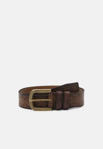 LEATHER - Belt - brown