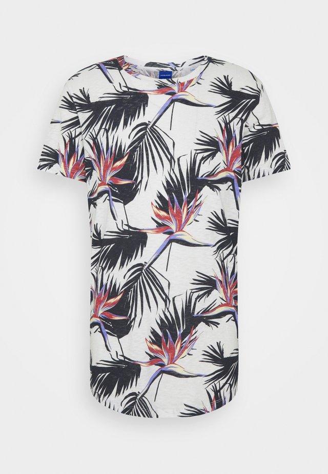 JORFLORALL - T-shirt med print - cloud dancer