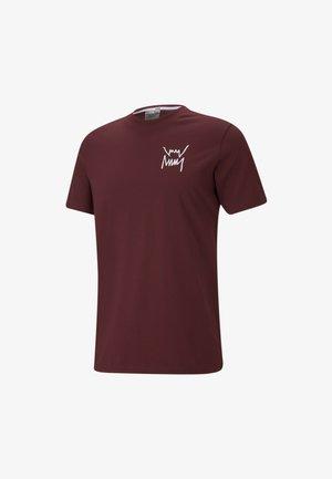 Print T-shirt - zinfandel