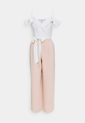 SEYDA OFF SHOULDER - Jumpsuit - ivory/sugar cream