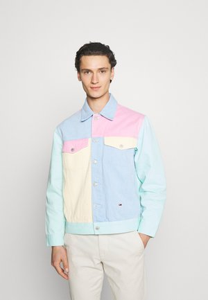 COLORBLOCK JACKET - Giacca di jeans - light powdery blue