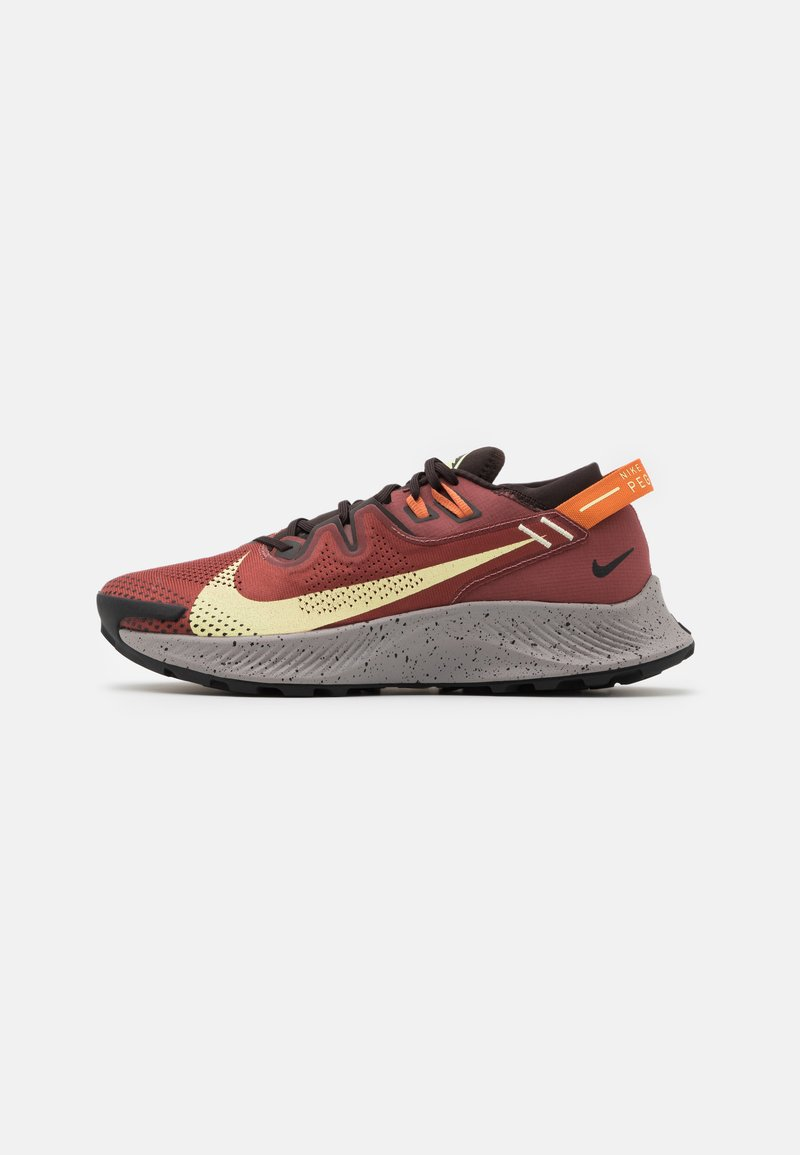 Nike Performance - PEGASUS TRAIL 2 - Trail running shoes - claystone red/life lime/velvet brown/healing orange/black/college grey