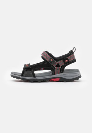 SANDOEY UNISEX - Walking sandals - black/red
