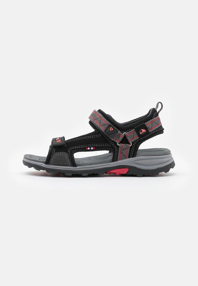 SANDOEY UNISEX - Sandales de randonnée - black/red