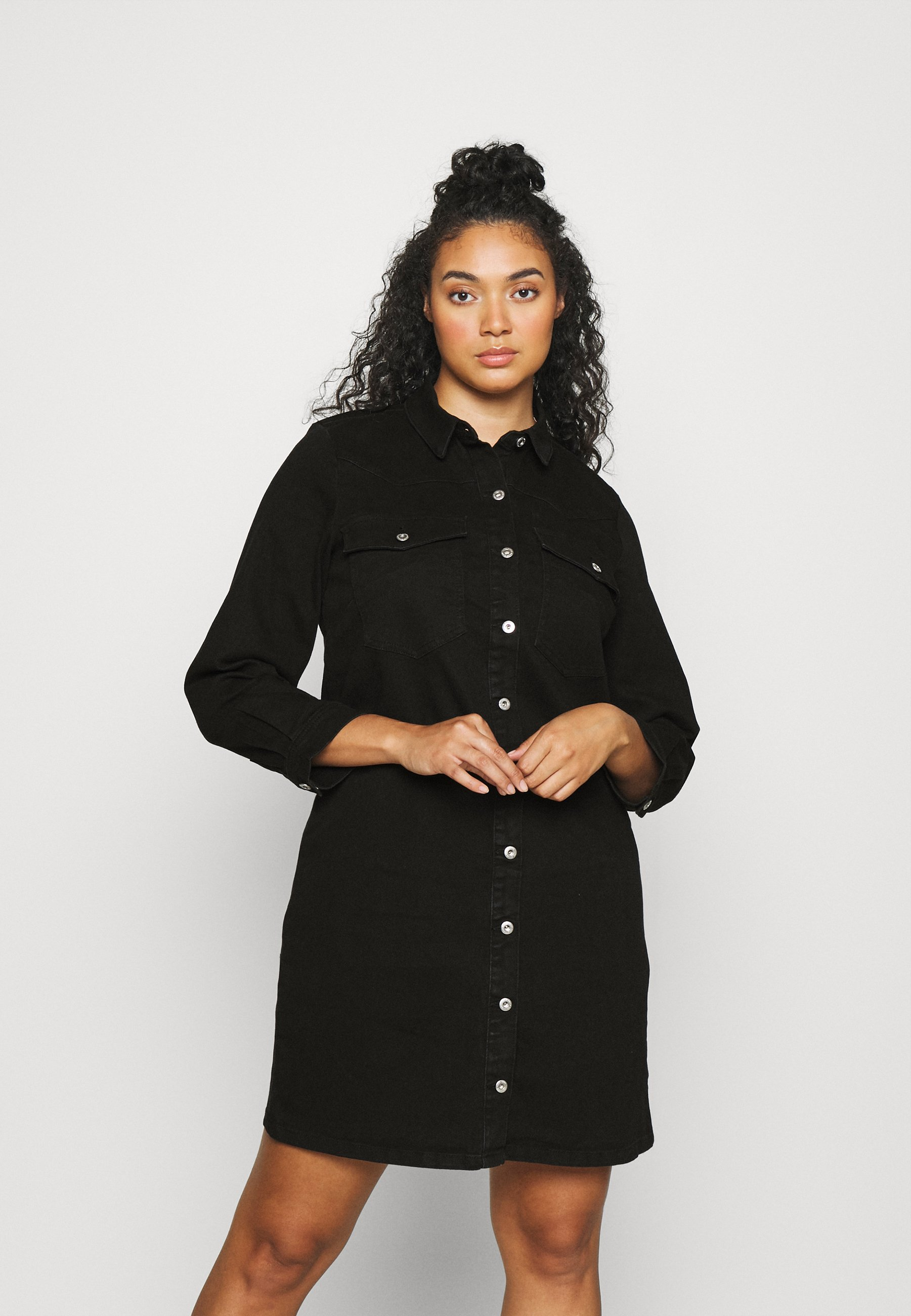 Women PCPERRY DRESS - Denim dress