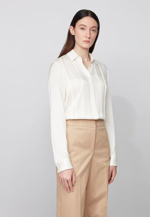 BESANA - Button-down blouse - natural