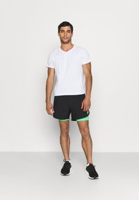 adidas Performance - SHORT - Pantalón corto de deporte - black/semi screaming green - 1