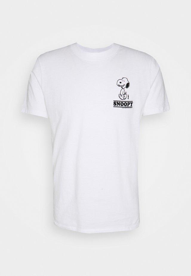 TEE SNOOPY SMILE - T-shirt z nadrukiem - blanc