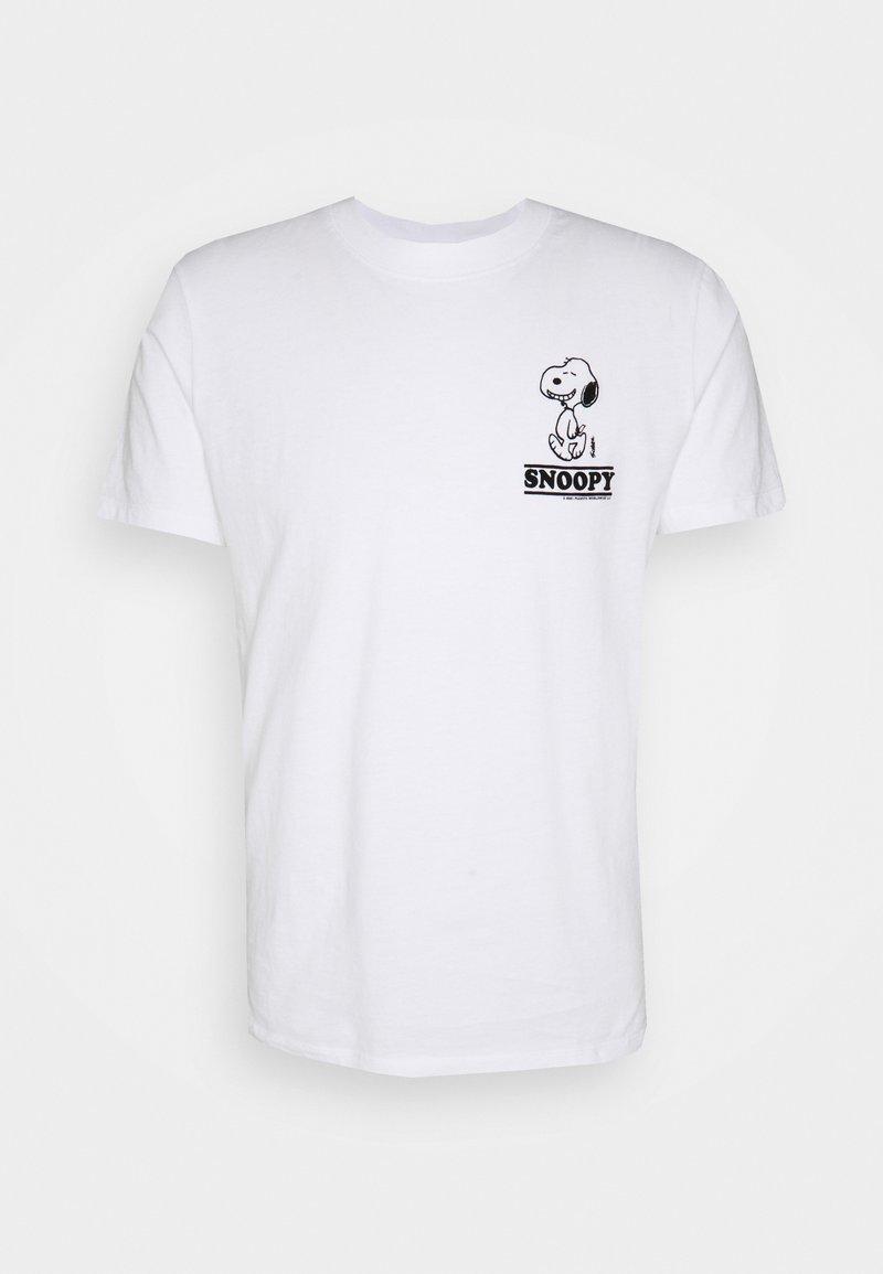sandro - TEE SNOOPY SMILE - Print T-shirt - blanc