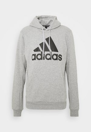 ESSENTIALS SPORTS INSPIRED HOODED - Mikina s kapucí - medium grey heather