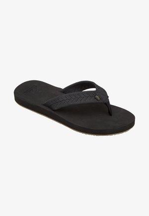 LEFT COASTA - T-bar sandals - black/black/brown