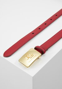 Lauren Ralph Lauren - SUPER SMOOTH LOGO - Belt - crimson
