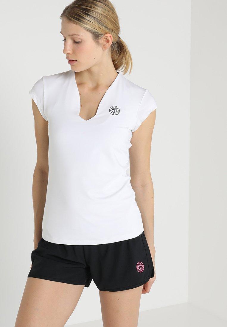 BIDI BADU - BELLA 2.0 TECH NECK TEE - Basic T-shirt - white