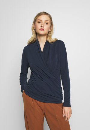 ALANOIW WRAP  - Long sleeved top - marine blue