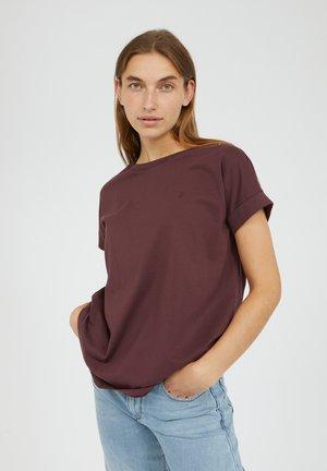 IDAA  - Basic T-shirt - aubergine