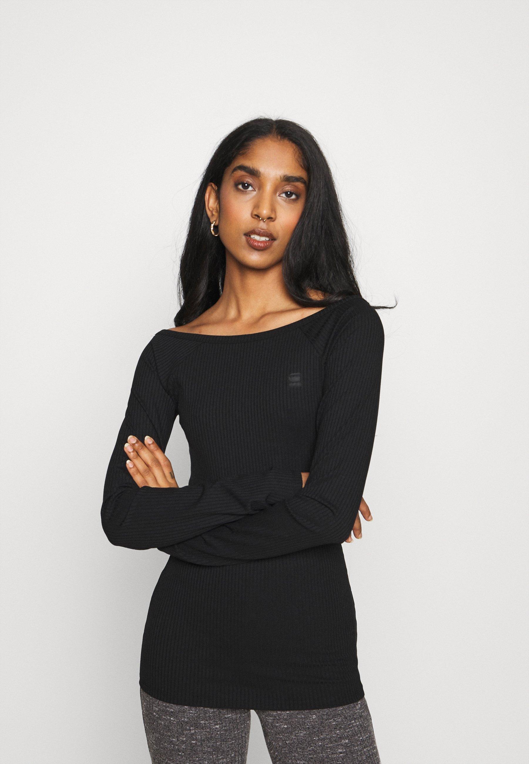 Women DEEP BACK T R WMN LS - Long sleeved top