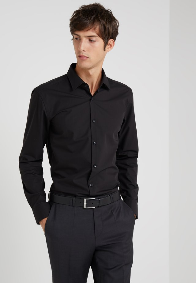 JENNO SLIM FIT - Camisa elegante - black