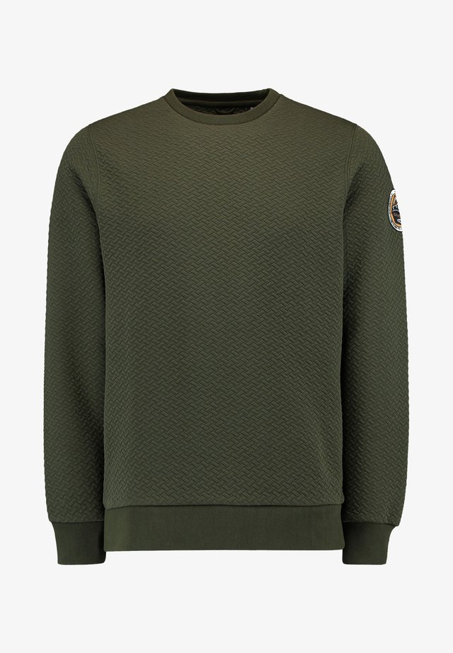 CREWS STRUCTURED CREW NECK - Sweatshirt - winter moss
