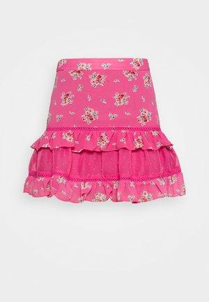 RUFFLE SKIRTS - Minijupe - pink