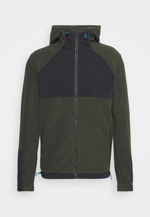JCOYOUNG ZIP HOOD - Forro polar - forest night