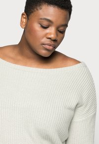 Missguided Plus - OPHELITA OFF SHOULDER - Jumper - grey - 4