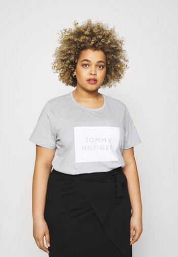 REGULAR BOX TEE - Print T-shirt - light grey heather