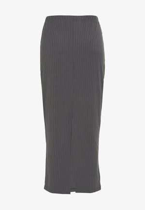 MIDI SLIT SKIRT - Pencil skirt - dark grey