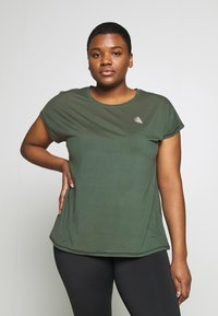Active by Zizzi - ABASIC ONE - Camiseta básica - green gables - 0