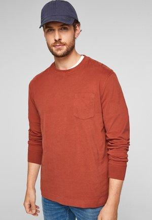 Long sleeved top - dark orange