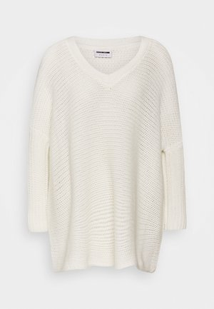 NMVERA V NECK - Jumper - sugar swizzle