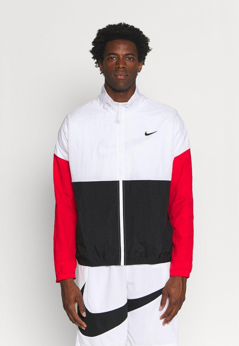Nike Performance - STARTING - Sportovní bunda - white/black/university red